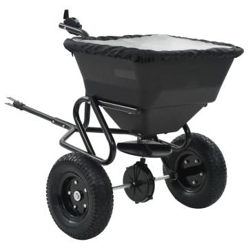Vontatható sószóró kocsi PVC/acél 125 x 74 x 79 cm 45 literes - utánvéttel vagy ingyenes szállítással