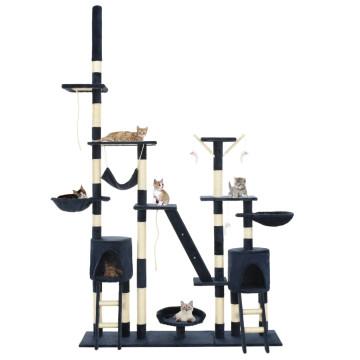 Kék macskabútor szizál kaparófákkal 230-250 cm - utánvéttel vagy ingyenes szállítással