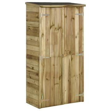 Fenyőfa kerti szerszámtároló fészer 85 x 48 x 177 cm - utánvéttel vagy ingyenes szállítással