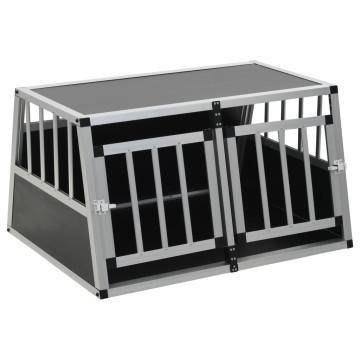 Kétajtós kutyaszállító ketrec 89 x 69 x 50 cm - utánvéttel vagy ingyenes szállítással