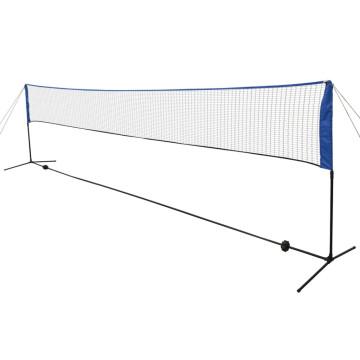 Tollaslabda háló tollaslabdákkal 600 x 155 cm - ingyenes szállítás