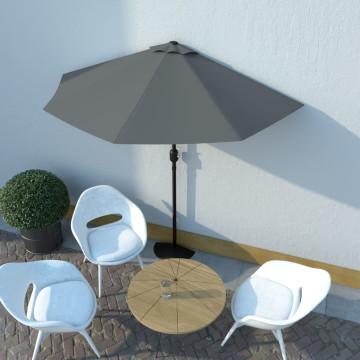Antracit féloldalas erkély napernyő alumíniumrúddal 270x135 cm - ingyenes szállítás