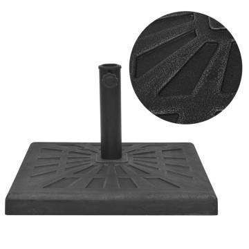 Négyszög alakú, fekete gyanta napernyő talp 12 kg - utánvéttel vagy ingyenes szállítással