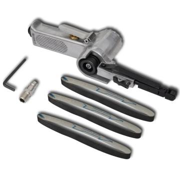Pneumatikus szalagos csiszológép 3 db csiszolószalaggal - utánvéttel vagy ingyenes szállítással