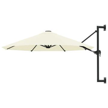 Homokszínű falra szerelhető napernyő fémrúddal, 300 cm - ingyenes szállítás