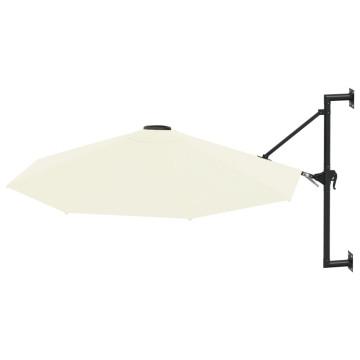 Homokszínű falra szerelhető napernyő fémrúddal, 300 cm - utánvéttel vagy ingyenes szállítással