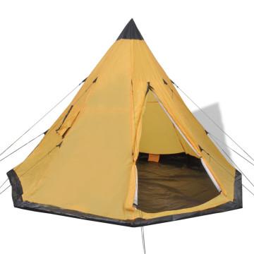4 személyes sárga sátor - ingyenes szállítás