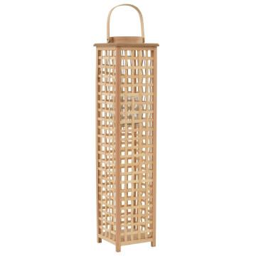 Természetes színű bambusz függő gyertyatartó lámpás - ingyenes szállítás