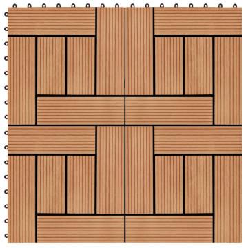 11 db (1 m2) tíkfa színű WPC teraszburkoló lap 30 x 30 cm - utánvéttel vagy ingyenes szállítással