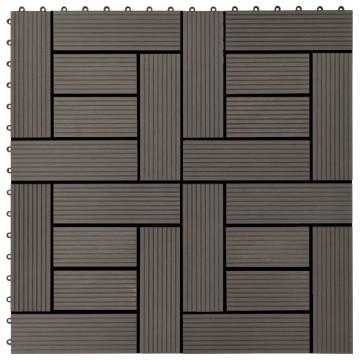 11 db (1 m2) sötétbarna WPC teraszburkoló lap 30 x 30 cm - utánvéttel vagy ingyenes szállítással