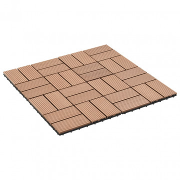 11 db (1 m2) barna WPC teraszburkoló lap 30 x 30 cm - utánvéttel vagy ingyenes szállítással