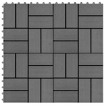 11 db (1 m2) szürke WPC teraszburkoló lap 30 x 30 cm - utánvéttel vagy ingyenes szállítással