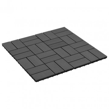 11 db (1 m2) fekete WPC teraszburkoló lap 30 x 30 cm - utánvéttel vagy ingyenes szállítással