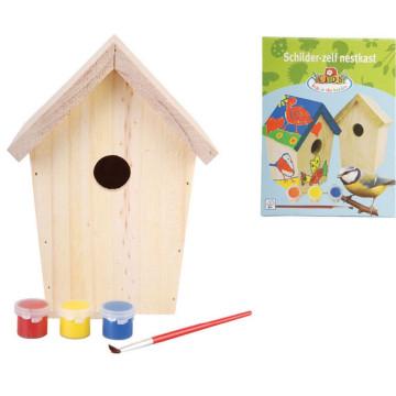 Esschert design DIY Fészekrakó doboz festék 14.8x11.7x20 cm KG145 - utánvéttel vagy ingyenes szállítással