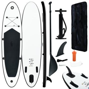 Fekete és fehér felfújható állószörfszett - utánvéttel vagy ingyenes szállítással
