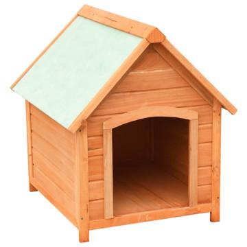 Tömör fenyő- és jegenyefa kutyaház 72 x 85 x 82 cm - utánvéttel vagy ingyenes szállítással