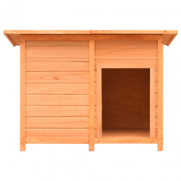 Tömör fenyő- és jegenyefa kutyaház 120 x 77 x 86 cm - utánvéttel vagy ingyenes szállítással