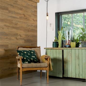 WallArt rozsdás barna színű újrahasznosított tölgyfa hatású lap - utánvéttel vagy ingyenes szállítással