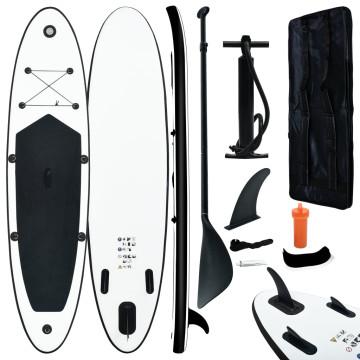Fekete és fehér SUP deszkaszett - utánvéttel vagy ingyenes szállítással