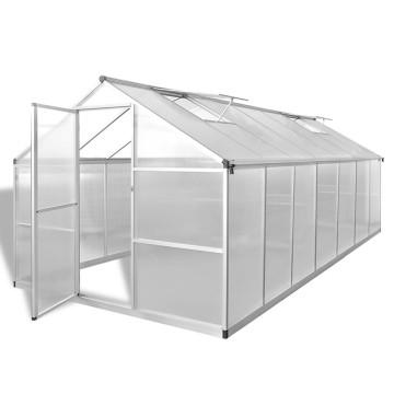 Megerősített alumínium melegház 10,53 m² - ingyenes szállítás