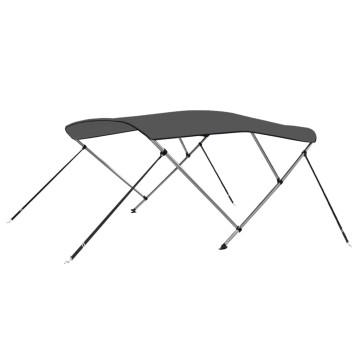 Antracitszürke háromágú bimini tető 183 x 140 x 137 cm - utánvéttel vagy ingyenes szállítással