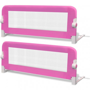 2 db rózsaszín biztonsági leesésgátló 102 x 42 cm - ingyenes szállítás