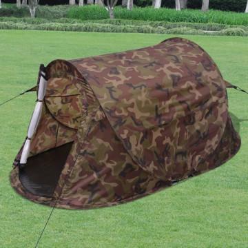 2 személyes terepszínű pop-up sátor - ingyenes szállítás