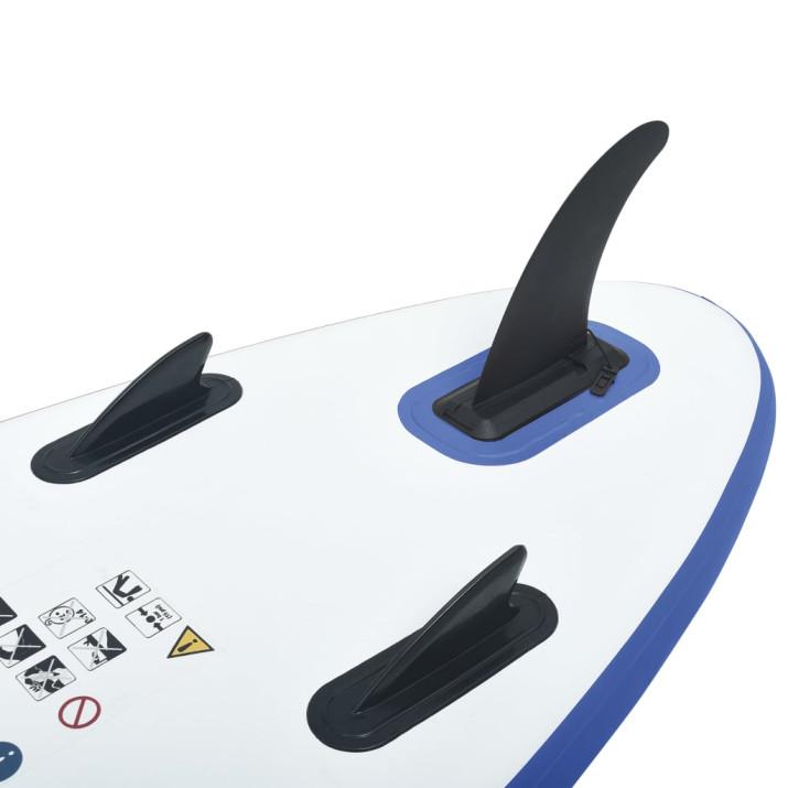 Felfújható állva evezős (SUP) szörfdeszka kék és fehér - ingyenes szállítás