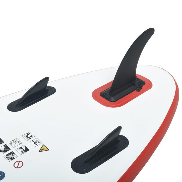 Felfújható állva evezős (SUP) szörfdeszka piros és fehér - utánvéttel vagy ingyenes szállítással
