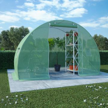 4,5 m²-es acélalapzatú melegház 300 x 150 x 200 cm - utánvéttel vagy ingyenes szállítással