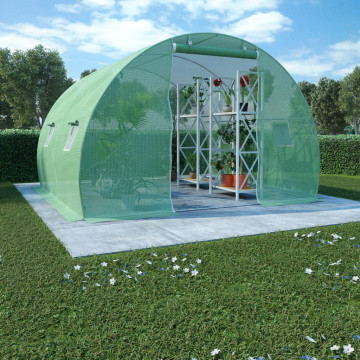 9 m²-es acélalapzatú melegház 300 x 300 x 200 cm - utánvéttel vagy ingyenes szállítással
