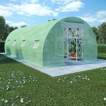 18 m²-es acélalapzatú melegház 600 x 300 x 200 cm - utánvéttel vagy ingyenes szállítással