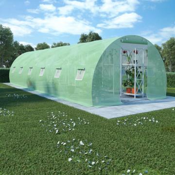 27 m²-es acélalapzatú melegház 900 x 300 x 200 cm - utánvéttel vagy ingyenes szállítással
