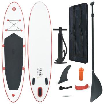 Piros és fehér SUP deszka szett - ingyenes szállítás