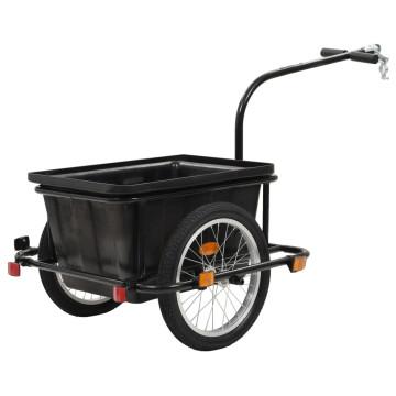 Fekete kerékpár utánfutó 50 L - ingyenes szállítás...