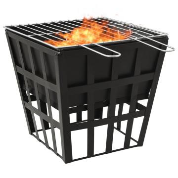 2 az 1-ben acél tűzrakó és grillező 34 x 34 x 48 cm - utánvéttel vagy ingyenes szállítással