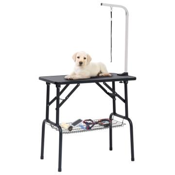 állítható kutyakozmetikai asztal 1 hurokkal és kosárral - utánvéttel vagy ingyenes szállítással