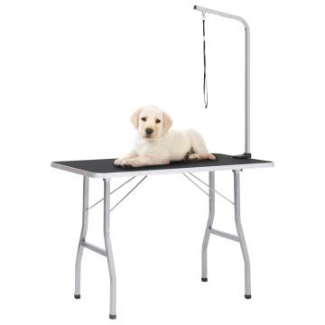 állítható kutyakozmetikai asztal 1 hurokkal - utánvéttel vagy ingyenes szállítással