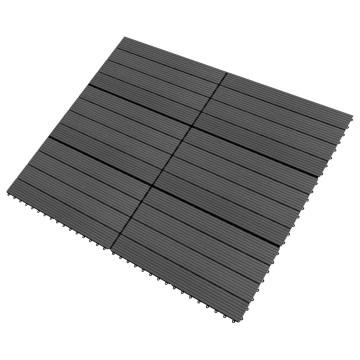 6 db (1,08 m2) fekete WPC teraszburkoló lap 60 x 30 cm - utánvéttel vagy ingyenes szállítással