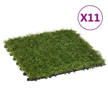 11 db zöld műgyeptégla 30 x 30 cm - utánvéttel vagy ingyenes szállítással