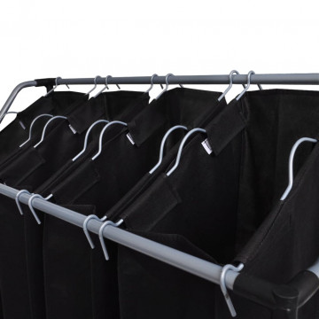2 db fekete és szürke szennyesszortírozó zsákokkal - utánvéttel vagy ingyenes szállítással