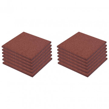 12 darab piros esésvédő, ütéscsillapító gumilap 50 x 50 x 3 cm - utánvéttel vagy ingyenes szállítással