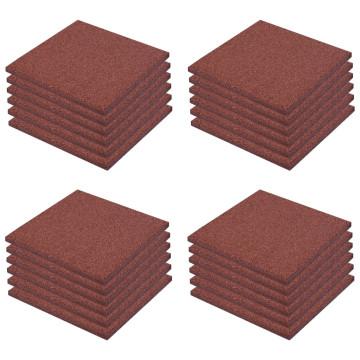 24 darab piros esésvédő, ütéscsillapító gumilap 50 x 50 x 3 cm - utánvéttel vagy ingyenes szállítással