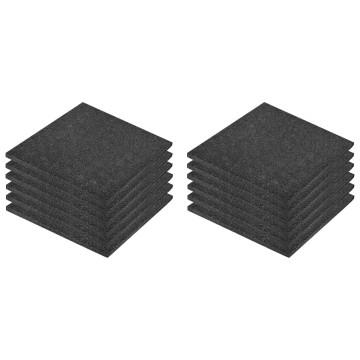 12 darab fekete esésvédő, ütéscsillapító gumilap 50 x 50 x 3 cm - utánvéttel vagy ingyenes szállítással
