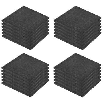 24 darab fekete esésvédő, ütéscsillapító gumilap 50 x 50 x 3 cm - utánvéttel vagy ingyenes szállítással