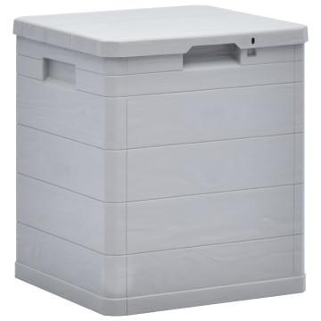 Világosszürke kerti tárolóláda 90 L - utánvéttel vagy ingyenes szállítással