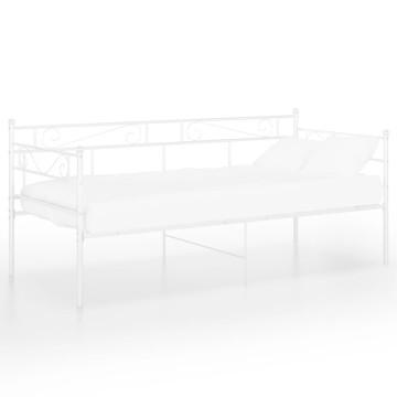 Fehér fém kanapéágykeret 90 x 200 cm - utánvéttel vagy ingyenes szállítással