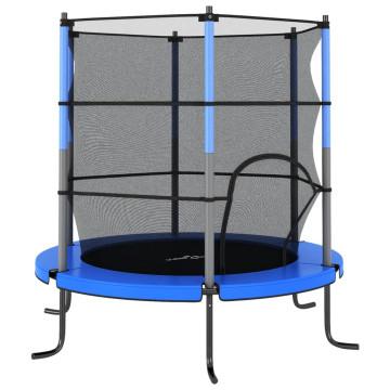 Kék kerek trambulin biztonsági hálóval 140 x 160 cm - utánvéttel vagy ingyenes szállítással