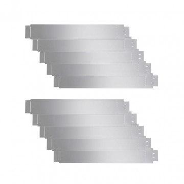 10 db hajlékony galvanizált acél gyep kerítés szett 100 x 15 cm - utánvéttel vagy ingyenes szállítással