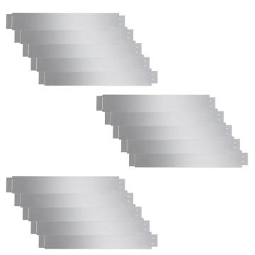 15 db hajlékony galvanizált acél gyep kerítés szett 100 x 15 cm - utánvéttel vagy ingyenes szállítással